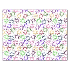 Star Space Color Rainbow Pink Purple Green Yellow Light Neons Rectangular Jigsaw Puzzl by Mariart