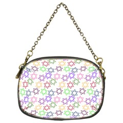 Star Space Color Rainbow Pink Purple Green Yellow Light Neons Chain Purses (two Sides)  by Mariart