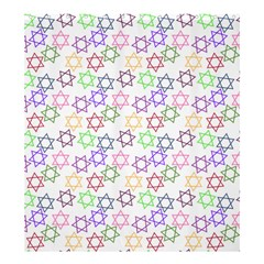Star Space Color Rainbow Pink Purple Green Yellow Light Neons Shower Curtain 66  X 72  (large)  by Mariart