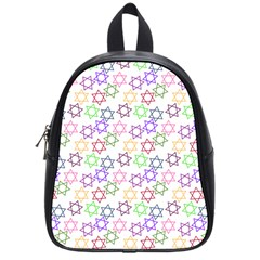 Star Space Color Rainbow Pink Purple Green Yellow Light Neons School Bags (small)  by Mariart