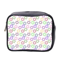 Star Space Color Rainbow Pink Purple Green Yellow Light Neons Mini Toiletries Bag 2 Side by Mariart