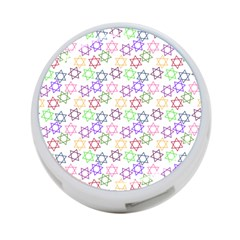 Star Space Color Rainbow Pink Purple Green Yellow Light Neons 4 Port Usb Hub (one Side) by Mariart