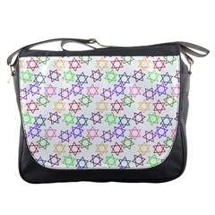 Star Space Color Rainbow Pink Purple Green Yellow Light Neons Messenger Bags by Mariart