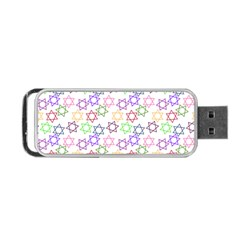 Star Space Color Rainbow Pink Purple Green Yellow Light Neons Portable Usb Flash (two Sides) by Mariart