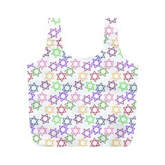 Star Space Color Rainbow Pink Purple Green Yellow Light Neons Full Print Recycle Bags (m)  by Mariart