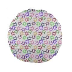Star Space Color Rainbow Pink Purple Green Yellow Light Neons Standard 15  Premium Flano Round Cushions by Mariart