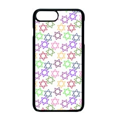 Star Space Color Rainbow Pink Purple Green Yellow Light Neons Apple Iphone 7 Plus Seamless Case (black) by Mariart