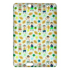 Kids Football Players Playing Sports Star Amazon Kindle Fire Hd (2013) Hardshell Case by Mariart