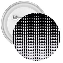 Triangle Black White Wave Chevron 3  Buttons by Mariart