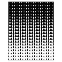 Triangle Black White Wave Chevron Drawstring Bag (large) by Mariart