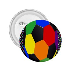 Team Soccer Coming Out Tease Ball Color Rainbow Sport 2 25  Buttons by Mariart