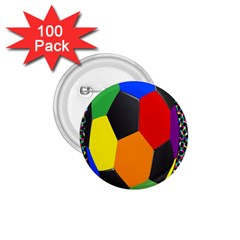 Team Soccer Coming Out Tease Ball Color Rainbow Sport 1 75  Buttons (100 Pack)  by Mariart