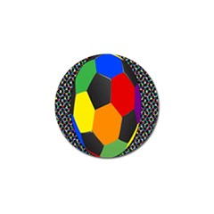 Team Soccer Coming Out Tease Ball Color Rainbow Sport Golf Ball Marker by Mariart