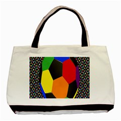 Team Soccer Coming Out Tease Ball Color Rainbow Sport Basic Tote Bag by Mariart