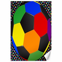 Team Soccer Coming Out Tease Ball Color Rainbow Sport Canvas 12  X 18   by Mariart