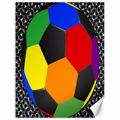 Team Soccer Coming Out Tease Ball Color Rainbow Sport Canvas 18  X 24   by Mariart