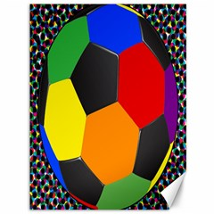 Team Soccer Coming Out Tease Ball Color Rainbow Sport Canvas 36  X 48   by Mariart