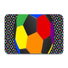 Team Soccer Coming Out Tease Ball Color Rainbow Sport Plate Mats by Mariart