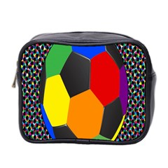 Team Soccer Coming Out Tease Ball Color Rainbow Sport Mini Toiletries Bag 2 Side by Mariart