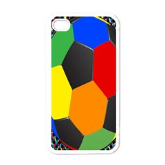 Team Soccer Coming Out Tease Ball Color Rainbow Sport Apple Iphone 4 Case (white) by Mariart