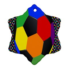 Team Soccer Coming Out Tease Ball Color Rainbow Sport Ornament (snowflake) by Mariart