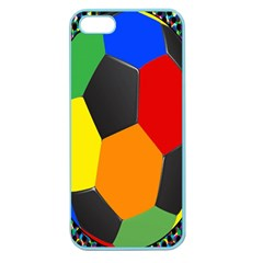 Team Soccer Coming Out Tease Ball Color Rainbow Sport Apple Seamless Iphone 5 Case (color) by Mariart