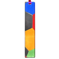 Team Soccer Coming Out Tease Ball Color Rainbow Sport Large Book Marks by Mariart