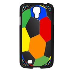 Team Soccer Coming Out Tease Ball Color Rainbow Sport Samsung Galaxy S4 I9500/ I9505 Case (black) by Mariart