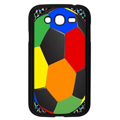 Team Soccer Coming Out Tease Ball Color Rainbow Sport Samsung Galaxy Grand Duos I9082 Case (black) by Mariart