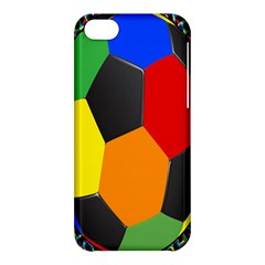 Team Soccer Coming Out Tease Ball Color Rainbow Sport Apple Iphone 5c Hardshell Case by Mariart