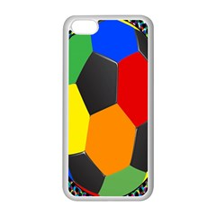 Team Soccer Coming Out Tease Ball Color Rainbow Sport Apple Iphone 5c Seamless Case (white) by Mariart