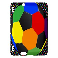 Team Soccer Coming Out Tease Ball Color Rainbow Sport Kindle Fire Hdx Hardshell Case by Mariart