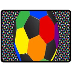 Team Soccer Coming Out Tease Ball Color Rainbow Sport Double Sided Fleece Blanket (large)  by Mariart