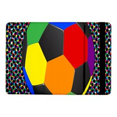 Team Soccer Coming Out Tease Ball Color Rainbow Sport Samsung Galaxy Tab Pro 10 1  Flip Case by Mariart