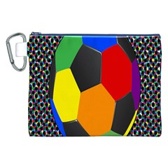 Team Soccer Coming Out Tease Ball Color Rainbow Sport Canvas Cosmetic Bag (xxl) by Mariart