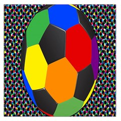 Team Soccer Coming Out Tease Ball Color Rainbow Sport Large Satin Scarf (square) by Mariart