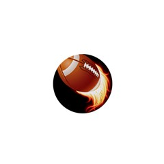 Super Football American Sport Fire 1  Mini Buttons by Mariart