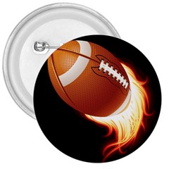 Super Football American Sport Fire 3  Buttons by Mariart