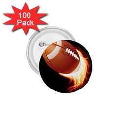 Super Football American Sport Fire 1 75  Buttons (100 Pack)  by Mariart