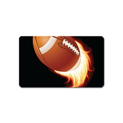 Super Football American Sport Fire Magnet (name Card) by Mariart