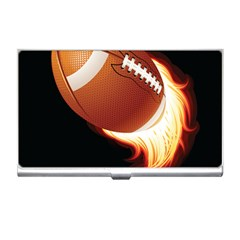 Super Football American Sport Fire Business Card Holders by Mariart