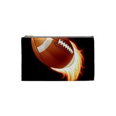 Super Football American Sport Fire Cosmetic Bag (small)  by Mariart
