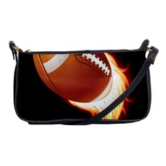 Super Football American Sport Fire Shoulder Clutch Bags by Mariart