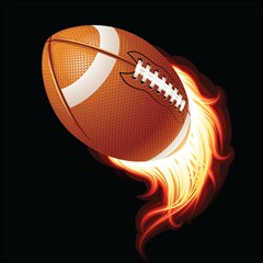 Super Football American Sport Fire Magic Photo Cubes by Mariart