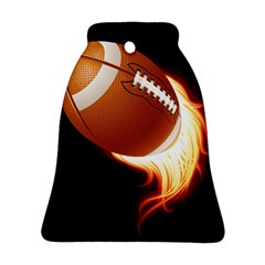 Super Football American Sport Fire Ornament (bell) by Mariart