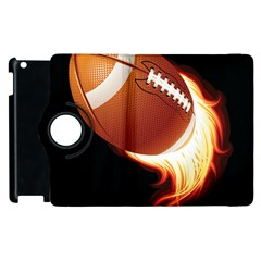 Super Football American Sport Fire Apple Ipad 2 Flip 360 Case by Mariart