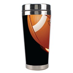 Super Football American Sport Fire Stainless Steel Travel Tumblers by Mariart