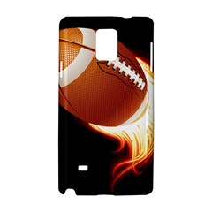 Super Football American Sport Fire Samsung Galaxy Note 4 Hardshell Case by Mariart