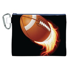 Super Football American Sport Fire Canvas Cosmetic Bag (xxl) by Mariart