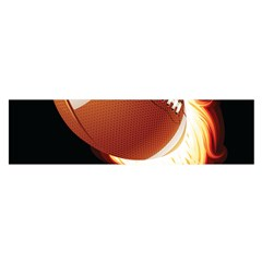 Super Football American Sport Fire Satin Scarf (oblong) by Mariart